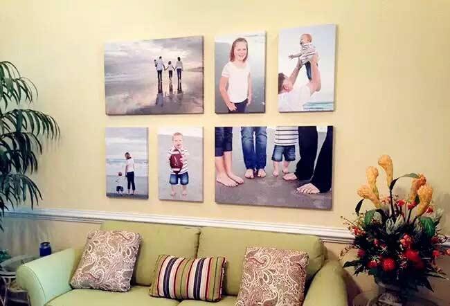 精致客厅照片墙设计效果图