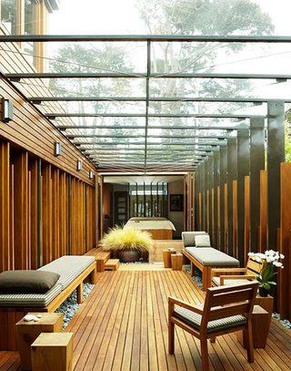 木质露台阳光房装修效果图