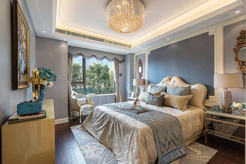 华丽现代法式卧室装潢效果图