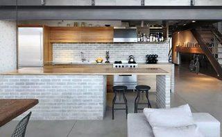 工业风厨房吧台设计效果图