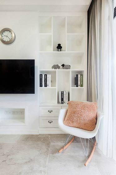 客厅电视墙收纳柜装修效果图
