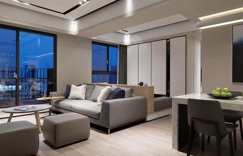 时尚都市现代简约风 开放式家居设计