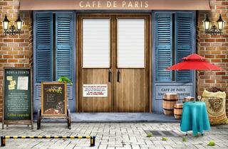 咖啡店门面装修效果图