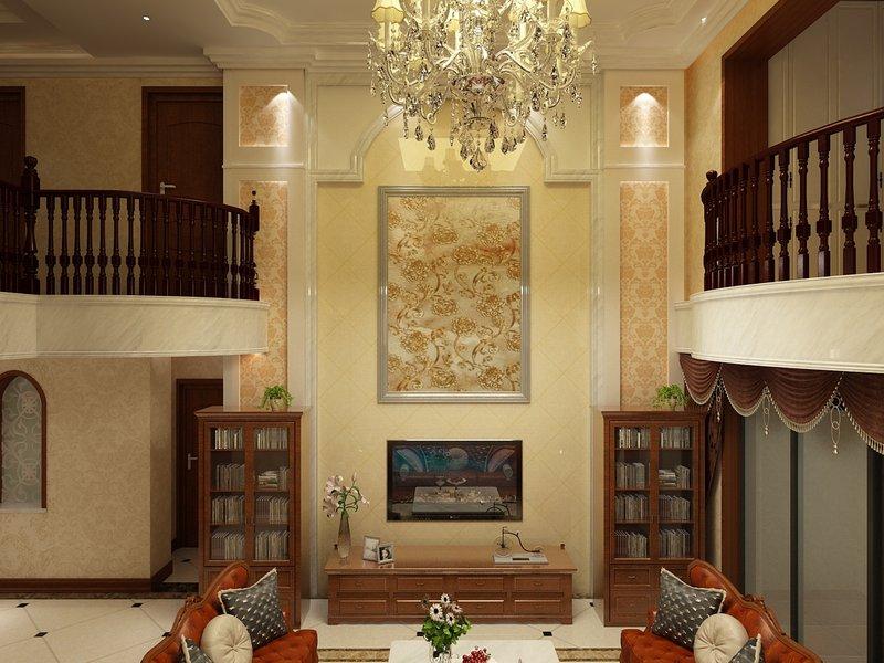 5 10万90平米混搭三居室装修效果图,盛唐城装修案例效果图 齐家装高清图片
