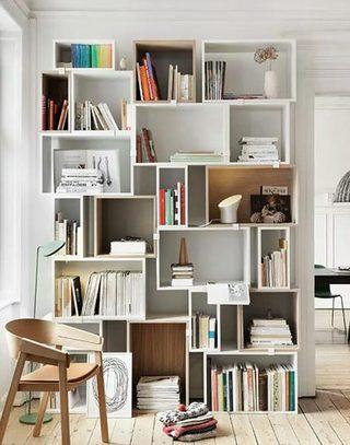 整体组合书柜置物架设计