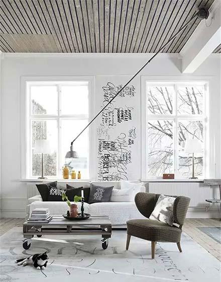 简约客厅吊顶设计图