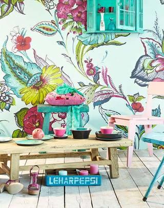 美腻餐厅壁纸效果图