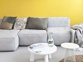 简约黄色系 102平3居室装修效果图