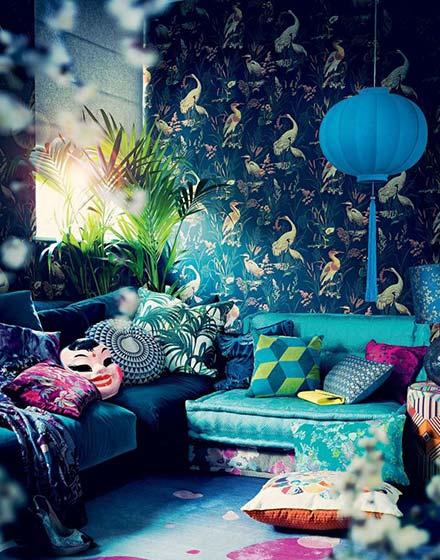优雅客厅壁纸装饰设计图