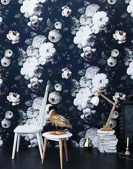 优雅客厅壁纸装修效果图