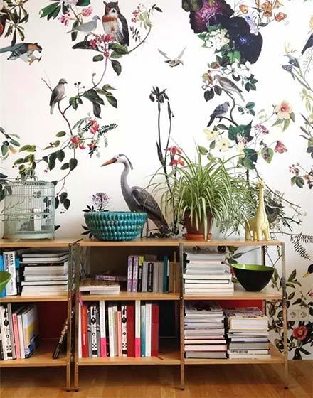 气质客厅壁纸装修图片