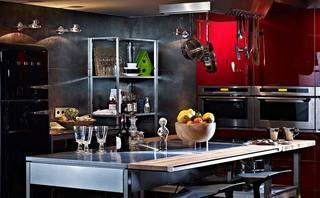 复古工业风 开放式厨房效果图