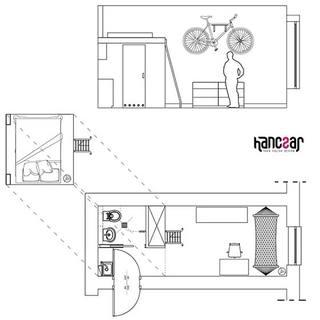 13平米小户型loft装修平面图