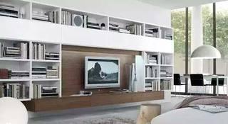 现代简约客厅电视背景墙图片