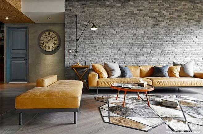 工业风格客厅装修实景图