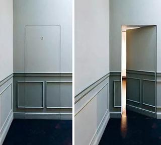 走廊隐形门效果图