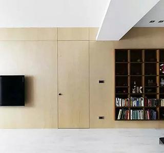 电视背景墙隐形门效果图