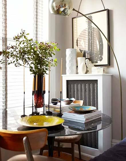 32平一室一厅小户型圆形桌子图片