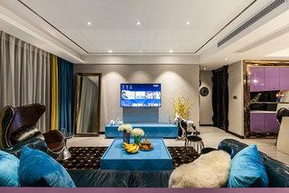 高端大气美式客厅 电视背景墙设计