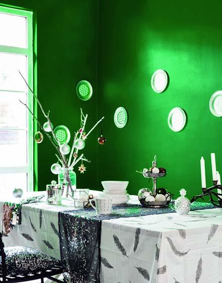 绿色环保圣诞主题餐厅图片