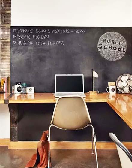 舒适墙面转角书桌图片