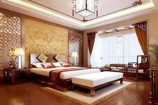 中式风格卧室床头背景墙