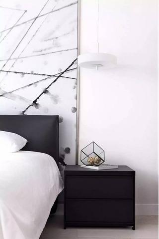 黑白卧室装修效果图