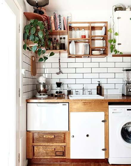 72平两居室复古厨房橱柜图片