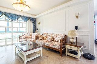 清新地中海风情客厅 沙发背景墙设计