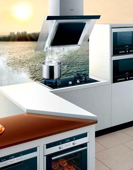开放式厨房超级油烟机图片