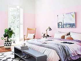 时尚卧室拼色背景墙设计 拒绝单调墙面
