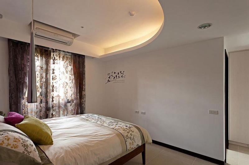 拱圆形卧室吊顶装修效果图