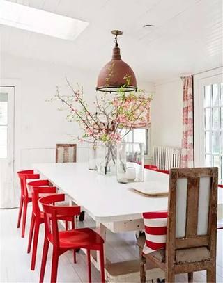 活力红色餐厅餐椅图片