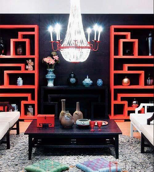 中式客厅布置装修效果图