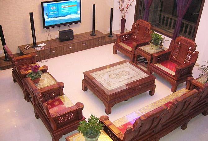 中式客厅茶几图片