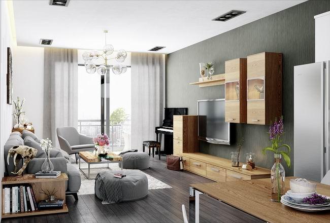时尚现代北欧混搭 电视背景墙装修设计