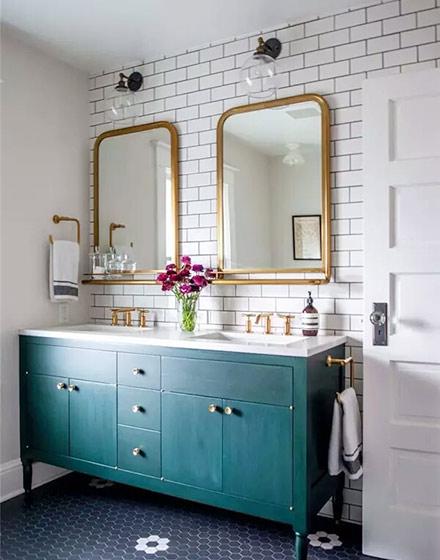 复古风格卫生间浴室柜图片