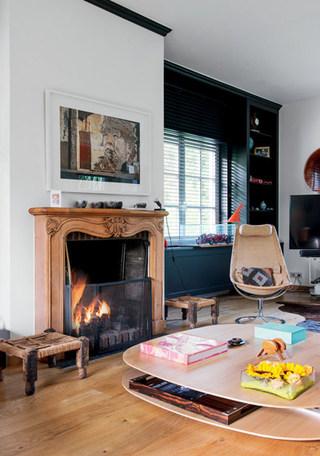 客厅温暖壁炉装修效果图