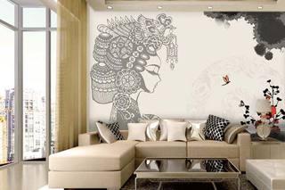 客厅壁画效果图