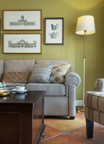 沙发背景墙装饰画装修效果图