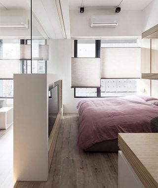 舒适环保宜家风 卧室隔断效果图