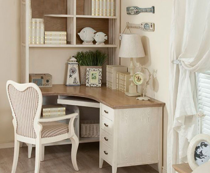 实木书桌图片