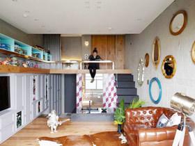 麻雀虽小五脏俱全 50平米夹层空间设计