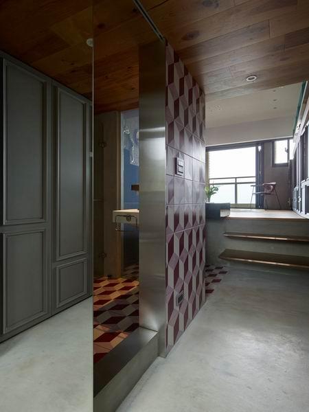 50平米夹层空间紫色卫生间设计