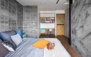 工业风公寓卧室装修效果图