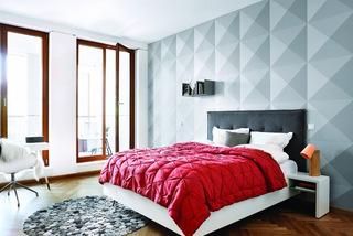 几何图案卧室背景墙装修图