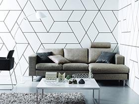 几何图形背景墙壁纸设计 打造不一样的家居