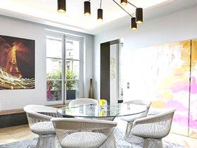 家的艺术灵感 107平法式现代艺术公寓装修