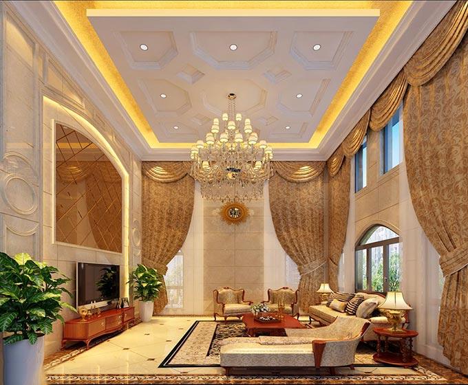 10个欧式客厅吊顶设计图片图片