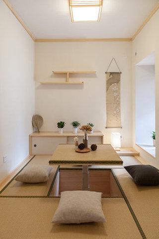 日式风格升降桌榻榻米装修效果图